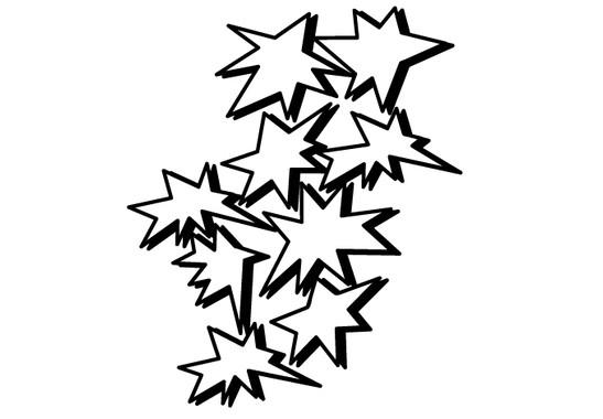 schwarz/weiss Ansicht - Wandtattoo Explosion