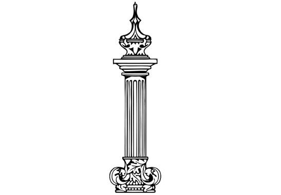 schwarz/weiss Ansicht - Wandtattoo Römische Säule