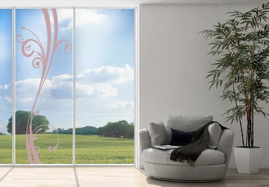 Glasdekor Floraler Schwung - Bild 4