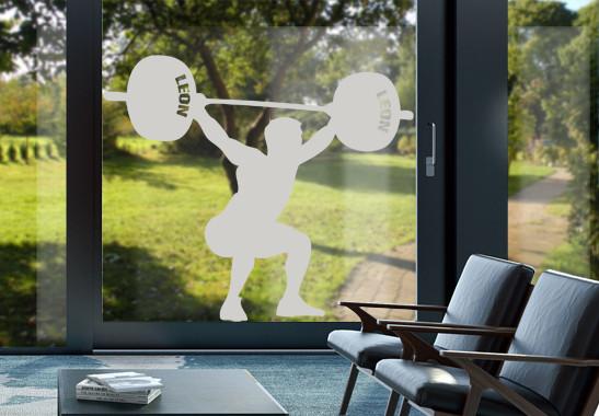 Glasdekor Wunschtext Schwergewichtler - Bild 2