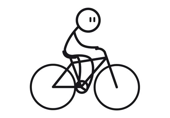 Das gesamte Motiv  - Glasdekor Radfahrer