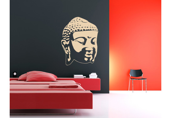 Wandtattoo Buddhagesicht Schatten II