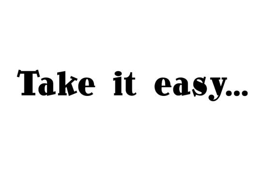 schwarz/weiss Ansicht - Wandtattoo Take it easy
