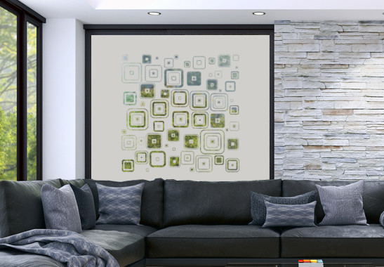 Glasdekor Retro Muster - Bild 2