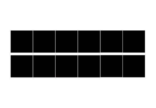 Ihr Bogen mit 12 Fliesenaufkleber - 6 zu jedem Farbton - Fliesenaufkleber Zwei Wunschfarben 12er Set