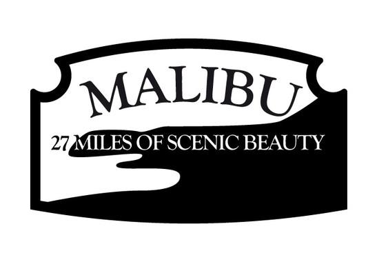 schwarz/weiss Ansicht - Wandtattoo Malibu