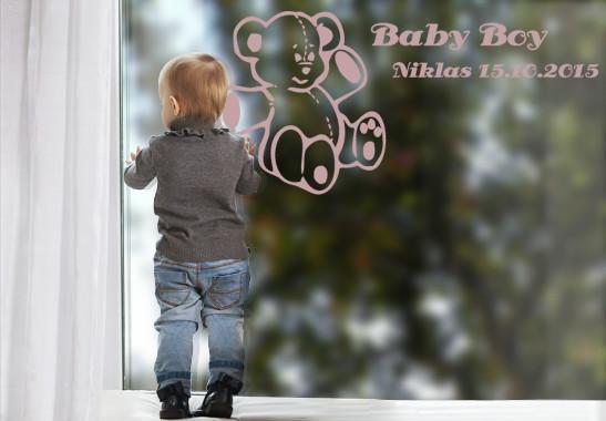 Glasdekor Wunschtext Baby Teddy - Bild 4