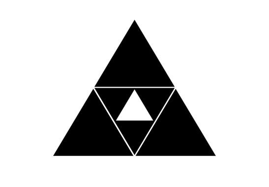 schwarz/weiss Ansicht - Wandtattoo Bermuda Triangle