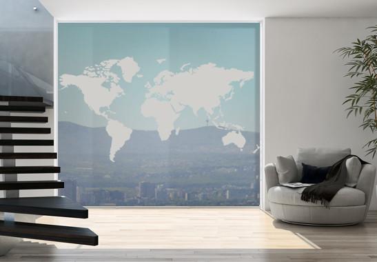 Glasdekor Weltkarte - Bild 2