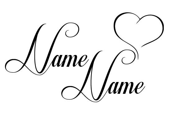 Glasdekor Wunschtext Lovely Names - Bild 6