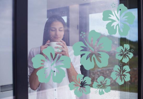 Glasdekor Hibiskus Blüten - Bild 5
