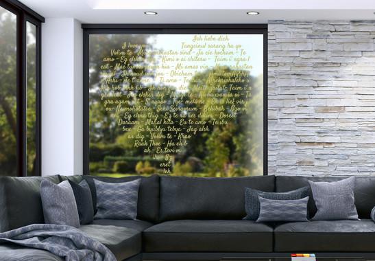 Glasdekor Die Sprache der Liebe - Bild 3