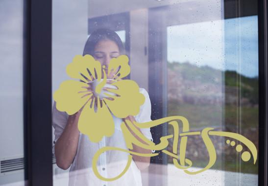 Glasdekor Floraler Hibiskus - Bild 3
