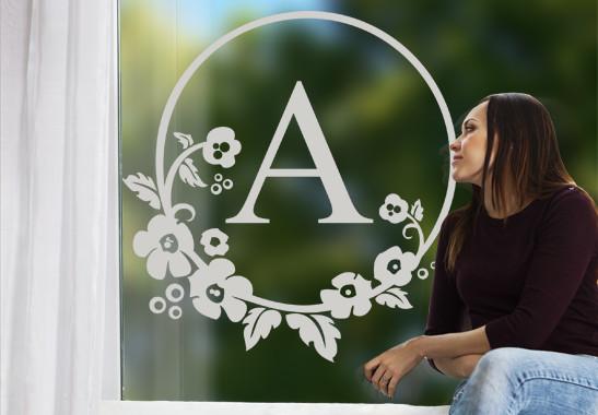 Glasdekor Wunschtext Emblem - Bild 2