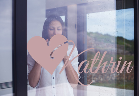 Glasdekor Wunschtext Initiale K - Bild 4