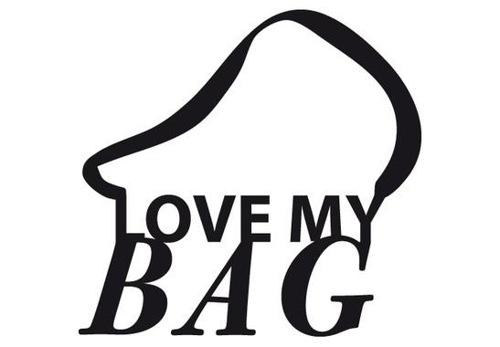 schwarz/weiss Ansicht - Wandtattoo Love my Bag