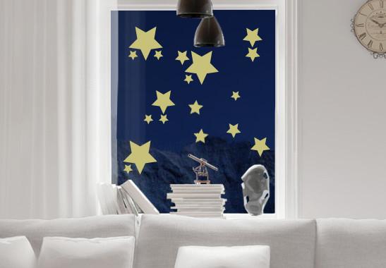 Glasdekor Funkelnde Sterne Set - Bild 3