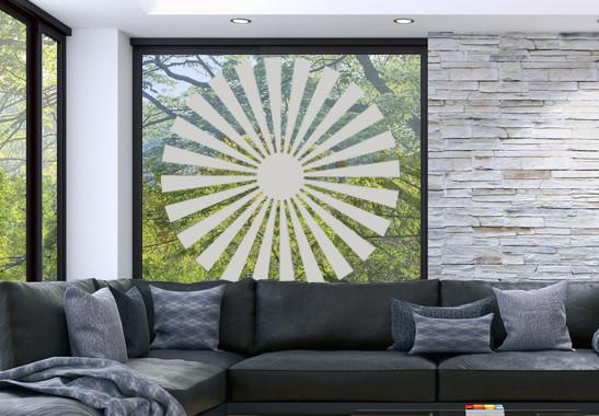 Glasdekor Sonnensymbol - Bild 2