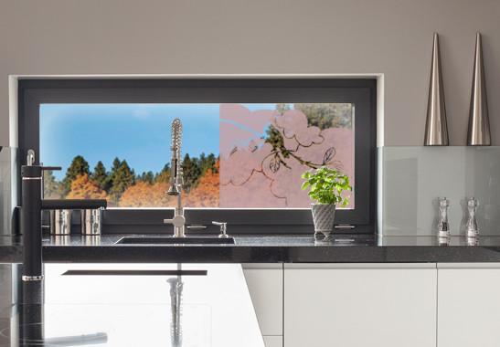 Glasdekor Amsel Zweig - Bild 4