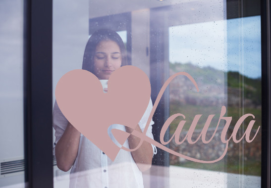 Glasdekor Wunschtext Initiale L - Bild 4
