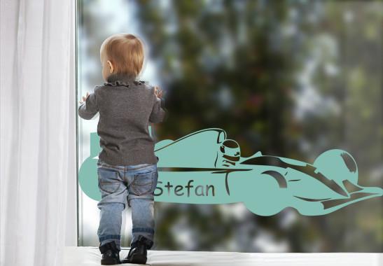 Glasdekor Wunschtext Rennfahrer - Bild 5