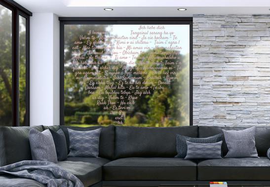Glasdekor Die Sprache der Liebe - Bild 4