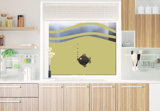 Glasdekor Rundes Fischlein - Bild 3