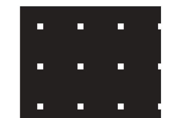 Ein Detail des Motives  - Sichtschutz Kleine Quadrate III
