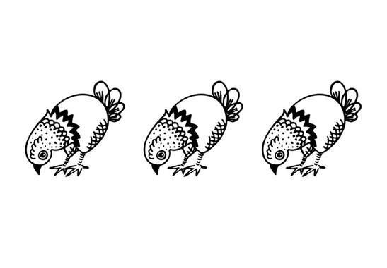 schwarz/weiss Ansicht - Wandtattoo Landleben Hühner