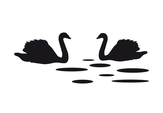 schwarz/weiss Ansicht - Wandtattoo Swansea