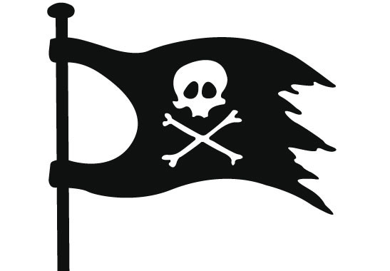 Glasdekor Piratenflagge - Bild 6
