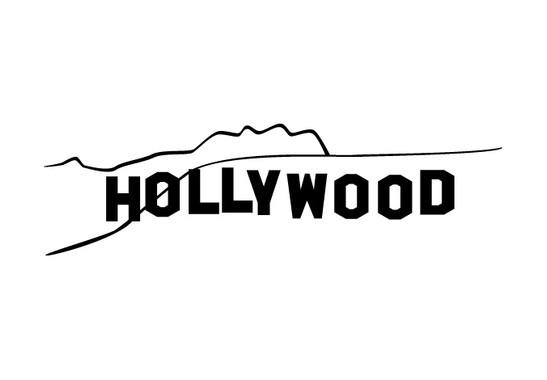 schwarz/weiss Ansicht - Wandtattoo Hollywood