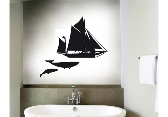 Wandtattoo Moby Dick Sailing