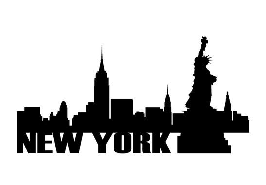 schwarz/weiss Ansicht - Wandtattoo New York