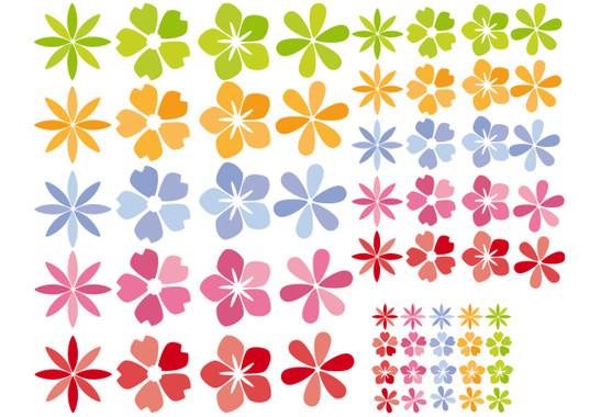 Produkt Gesamtansicht des Bogens 110x80 cm - Fenstersticker Blütenmeer