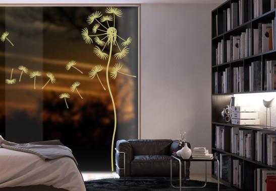 Glasdekor Löwenzahnblume - Bild 3