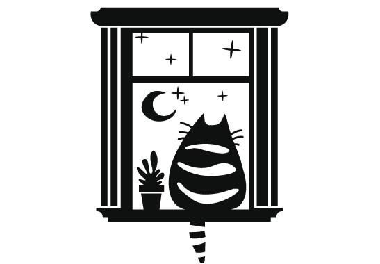 Glasdekor Die Katz am Lieblingsplatz - Bild 6