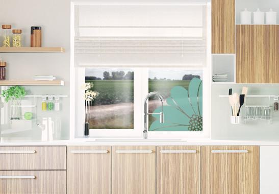Glasdekor Gerbera Ecke - Bild 5
