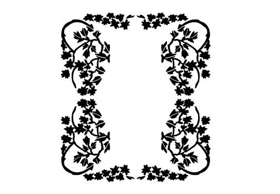 schwarz/weiss Ansicht - Wandtattoo Flower Mirror