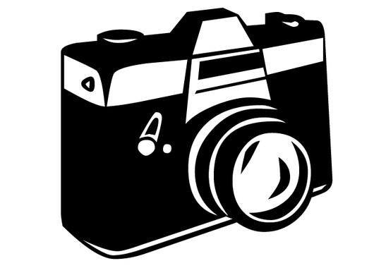 schwarz/weiss Ansicht - Wandtattoo Fotokamera