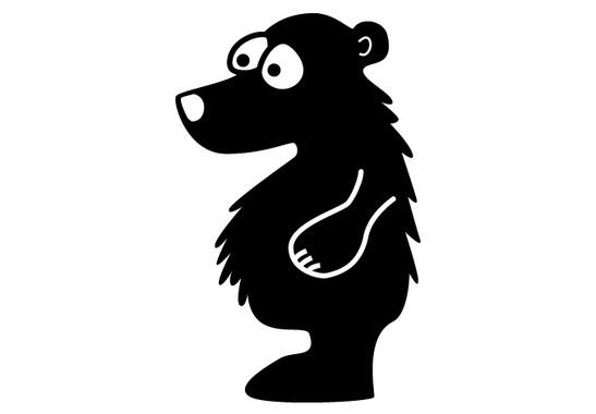 schwarz/weiss Ansicht - Wandtattoo Teddybär