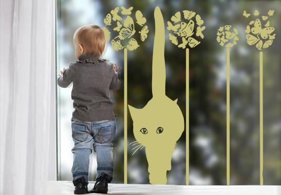 Glasdekor Sommerkatze - Bild 3