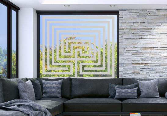 Glasdekor Steinlabyrinth - Bild 2