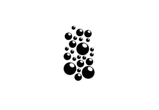 schwarz/weiss Ansicht - Wandtattoo Luftblasen