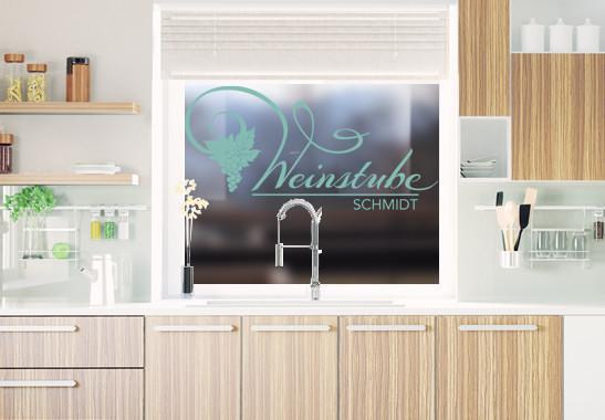 Glasdekor Wunschtext Unsere Weinstube - Bild 5