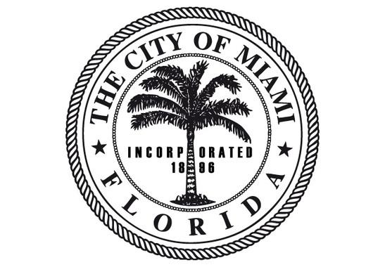 schwarz/weiss Ansicht - Wandtattoo Miami