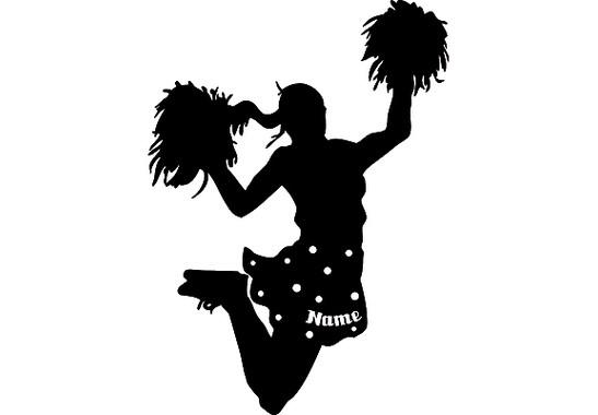 Das gesamte Motiv  - Wandtattoo Wunschtext Cheerleader