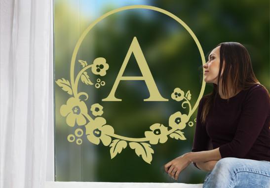 Glasdekor Wunschtext Emblem - Bild 3