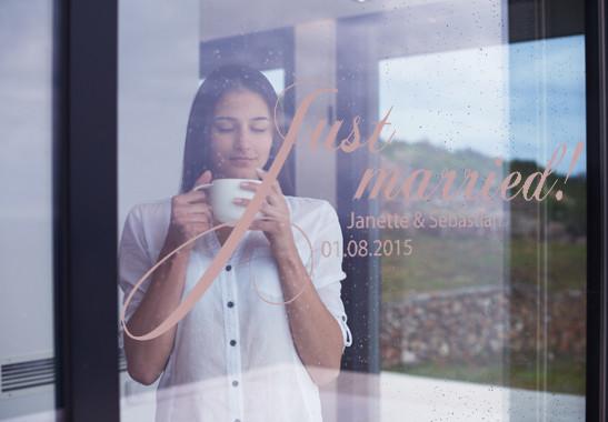 Glasdekor Wunschtext Just Married - Bild 4