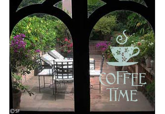 Folienfarbe in Wohnansicht: Refreshing Mint - Glasdekor Coffee Time 1